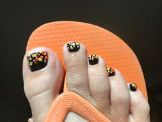 Toes ready for Halloween via our #Spa #pedicure #treatment #pampering #fall