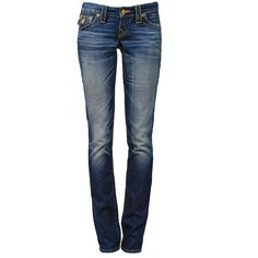 TRUE RELIGION Billy Pioneer (1.135 BRL) ❤ liked on Polyvore featuring jeans, pants, bottoms, calças, pantalones, distressing jeans, true religion, destruction jeans, destructed jeans and stitch's jeans