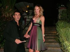 The top model and actress Camilla Sjoberg dress outfit Michele Miglionico Haute Couture