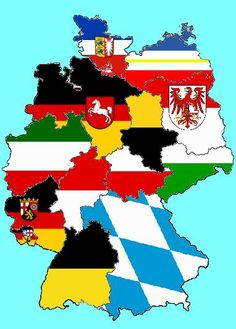This fun picture of Germany shows the different German states by covering each state with their state flag.  I thought this picture was a fun and creative way to show each state.