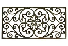 French Forged Iron Architectural Panel
