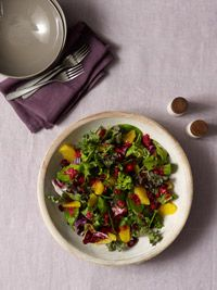 Winter Salad with Cranberry-Orange Dressing - Healthy Recipe Finder | Prevention- The dressing sounds great!