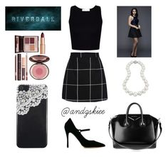 """""""Veronica Lodge-inspired"""" by andzskiee ❤ liked on Polyvore featuring Tabitha Simmons, Bling Jewelry, Charlotte Tilbury and Givenchy"""