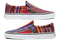 shoes aztec vans print colorful slip on slip on shoes slip ons cool girly adorable colors color stripes pattern aztec shoes hipster hippie boho