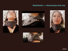 The Victorian  Charcoal Gray Handknitted Neck by DesignsByCaro, $18.00