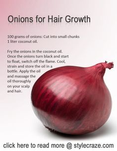Onion Juice For Hair Growth Hey all..! What happened when you comb your hairs? Is your brush has more hairs than you...