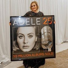 Photo by Myrna Suarez BTPR Adele @Adele poses with her Diamond Plaque presented by RIAA with Rob Stringer and staff! #Adele #Adele25 #Adelettes #AdeleLive2016