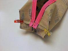 Na, habt Ihr schon mal solche Bilder/Schnittmuster gesehen? Es sind Schnittmuster für eckige Reißverschlusstaschen. Die sind echt schön und praktisch, …