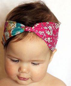 <3 head wraps  0-6m (approx 36cm), 6-12m (approx 40cm), 12-24m (approx 44cm), 2-5yr (approx 48cm), 5-10yr (approx 50cm), One Size - adult (approx 52cm)