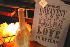 """""""The greatest think you'll ever learn is just to love and be loved in return"""" sign & Himalayan Salt Crystals are now available at the Rusted Buffalo in Historic Downtown Dahlonega. 