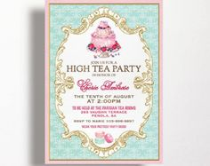 Printable Tea Party Invitations Instructions  Recipe  Tea Party