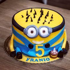 Minions, Birthday Cake, Desserts, Tailgate Desserts, Birthday Cakes, The Minions, Dessert, Minion Stuff, Deserts