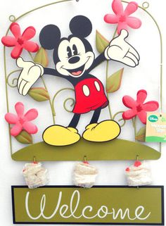 Disney Mickey Mouse Garden Sign
