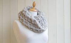 "This cosy double snood is quick and easy to knit, and a great first project if you've never worked in the round before  Yarn: Three skeins of Blue Sky Alpacas' Bulky (colour shown Silver Mink)    Needles: 15mm circular needle (60cm/ 24"")"