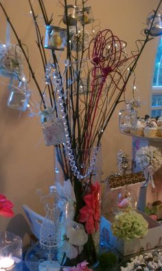 Table Centerpiece  http://wordofmouthevents.weebly.com/
