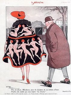 Le Sourire Magazine, Elegant Parisienne - December 1926 - Fashion illustration by Pem