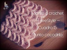 Manta a crochet Freestyle cuadro 15: punto cocodrilo (zurdo)