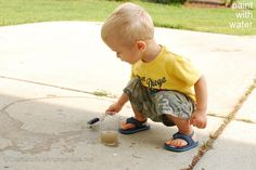 painting with water! #preschoolers #toddlers #activity