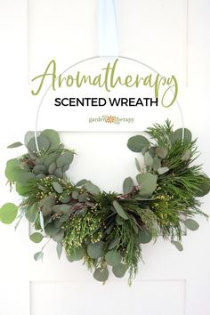 Make a Fresh and Fragrant Scented Wreath for Aromatherapy. This scented wreath made of incense cedar and eucalyptus is not only gorgeous but it is also very fragrant. Diy Herb Garden, Diy Garden Decor, Garden Ideas, Garden Crafts, Garden Art, Hula Hoop, Christmas Wreaths, Christmas Crafts, Christmas Decorations