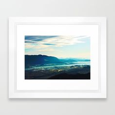 Blue Vista Framed Art Print by Mixed Imagery | Society6