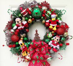 Disney Christmas Wreath by SparkleForYourCastle on Etsy, $159.00