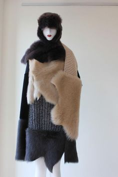 Inventive layered styling of Gushlow & Cole scarves!