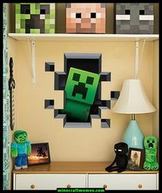 [ Minecraft Wall Art Creates Portal Mine More Gold Themed Vinyl Decals Stickers Game Room Decor Free ] - Best Free Home Design Idea & Inspiration Craft Minecraft, Minecraft Decoration, Minecraft Bedroom Decor, Minecraft Room, Minecraft Party, Minecraft Stuff, Minecraft Memes, Minecraft Furniture, Minecraft Skins