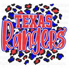 Texas Rangers Shirts, Rangers Baseball, Cheetah Print, Tumblers, Cricut, Digital, Kids, Etsy, Design