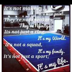 Cheerleading❤ some people just don't realize all that cheerleading has taught me and how much I love it. I live everything; my team, practices, learning new skills, flying, competitions, my coaches, the feelin of winning, the motivating words from coaches, the music, the dance, tumbling, my uniform, traveling for comps......everything<3