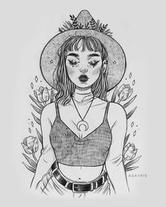 We Know What Kind of Witch You Are - arturo Pencil Art Drawings, Art Drawings Sketches, Easy Drawings, Drawing Art, Modern Drawing, Witch Drawing, Art Du Croquis, Art Ideas For Teens, Art Mignon