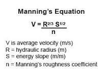 Image result for manning's formula