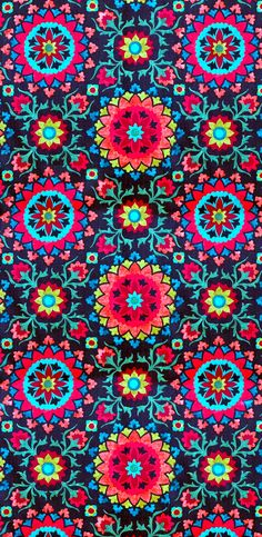 coquita bright kaleidoscope pattern