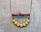 Yellow Coral Necklace, Yellow  Necklace,  Branch Necklace, Polymer Clay Necklace, Twig Necklace