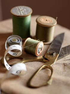 by Lucyina Moodie - Interior Stylist~~~love the scissors and wooden spools!