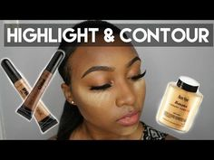 UPDATED Contour And Highlight + Foundation for Black Women Makeup Tutorial 2015 ( DARK SKIN ) - YouTube