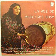 MERCEDES SOSA LA VOZ DE MERCEDES SOSA  Venezuela Press Lp Vinyl, Vinyl Records, Mercedes Sosa, Folk Music, The Voice, Sad, Venezuela, People, Folk