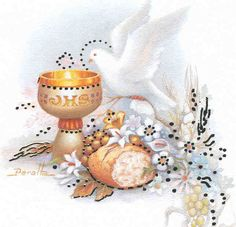 IMAGENES RELIGIOSAS: Eucaristía First Communion Cards, Première Communion, Communion Favors, First Holy Communion, Baptism Cookies, Decoupage, Baby Wallpaper, Christian Cards, Religious Images