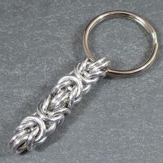 Chunky Byzantine Keychain  Chain Maille  14 by blackbirdmaille, $8.00
