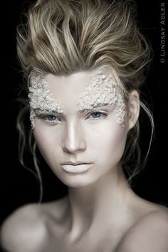 Lindsay Adler Photography ...@Sandra Perez , check out this crazy makeup! what do you think that is...rock salt maybe?