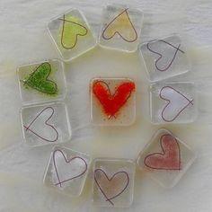 Fused glass love token £2.00
