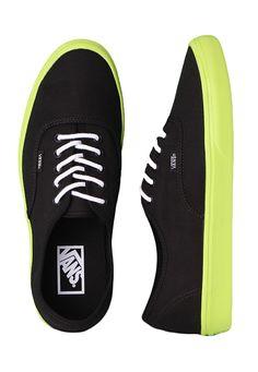 Vans - Authentic Lite Black/Neon Yellow - Shoes
