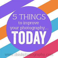 Whether you just got a DSLR or you are getting one for Christmas, or even if you own one and feel like you aren't progressing; I want to share 5 tips to help you improve your photography skills TODAY! I believe that photography like any art is always evolving so we are always learning as artists. I…
