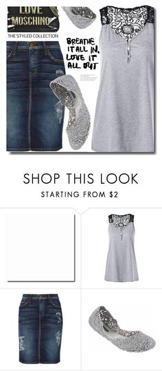 """""""Combo style"""" by shadow-12 ❤ liked on Polyvore featuring Current/Elliott, Melissa, Love Moschino and polyvoreeditorial"""