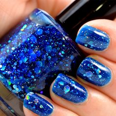 I Got A Crush On Blue Holigraphic Jelly Nail Polish by KBShimmer