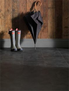 Luxury Black Slate Effect Vinyl Flooring