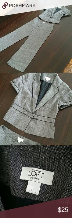 Ann Taylor Loft Petite Suit 6P 6 Petite suit! Shell is 100% Linen and lining is 100% Acetate. Worn ONCE for a job interview, been keeping in my closet ever since. Love my job and no plan on any interview anytime soon! LOFT Other
