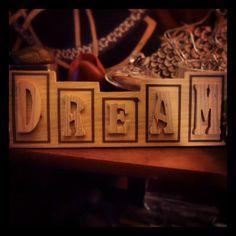 """Dream"" Wooden Word Decor (1 of 6 piece set)"