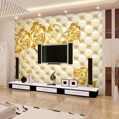 Continental Stereo soft wallpaper living room bedroom TV simple and seamless background Mural wallpaper 3d Wallpaper For Walls, Soft Wallpaper, Wallpaper Decor, Photo Wallpaper, House Wall Design, Tv Wall Design, Tv Wall Decor, Wall Pepar, Modern Tv Wall Units