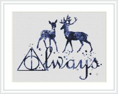 Harry Potter cross stitch pattern Always Quote Harry Potter