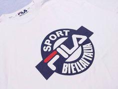 Vintage 90s Fila Sport t shirt biella italia yacht hip hop rap polo stadium snow beach swag swagger champion adidas run dmc box logo supreme